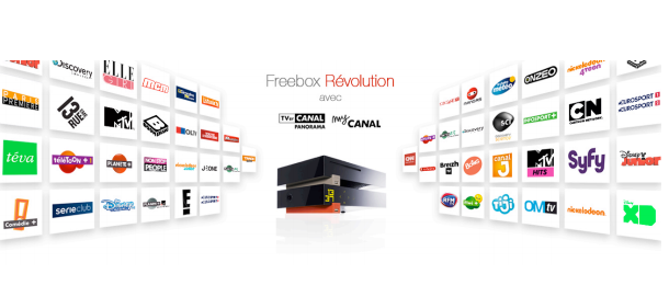 nouveau free inclut toutes les cha nes de canalsat panorama dans la freebox r volution pour 2. Black Bedroom Furniture Sets. Home Design Ideas