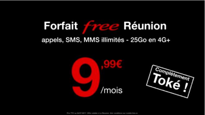 Free Mobile annonce un forfait à 9,99 euros pour La Réunion