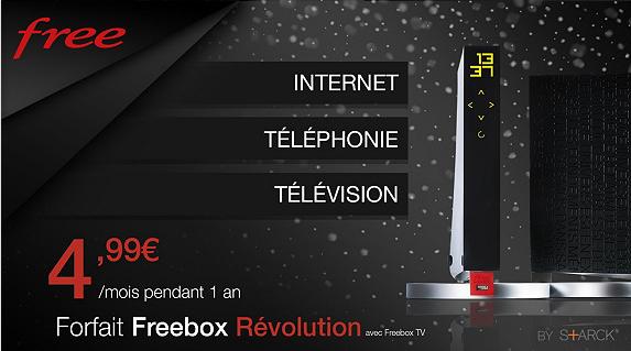 La Freebox Révolution à 4,99 € par mois