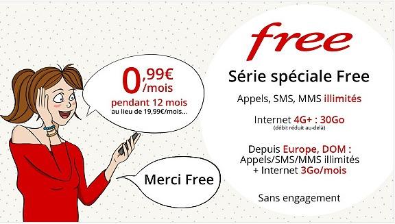 Le Forfait Free Mobile 30go A 0 99 Mois Joue Les Prolongations Sur