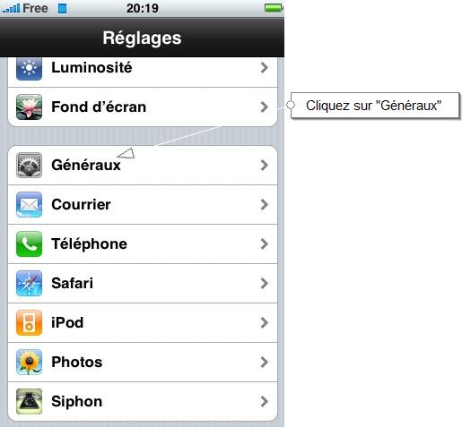 choisir réseau iphone 5