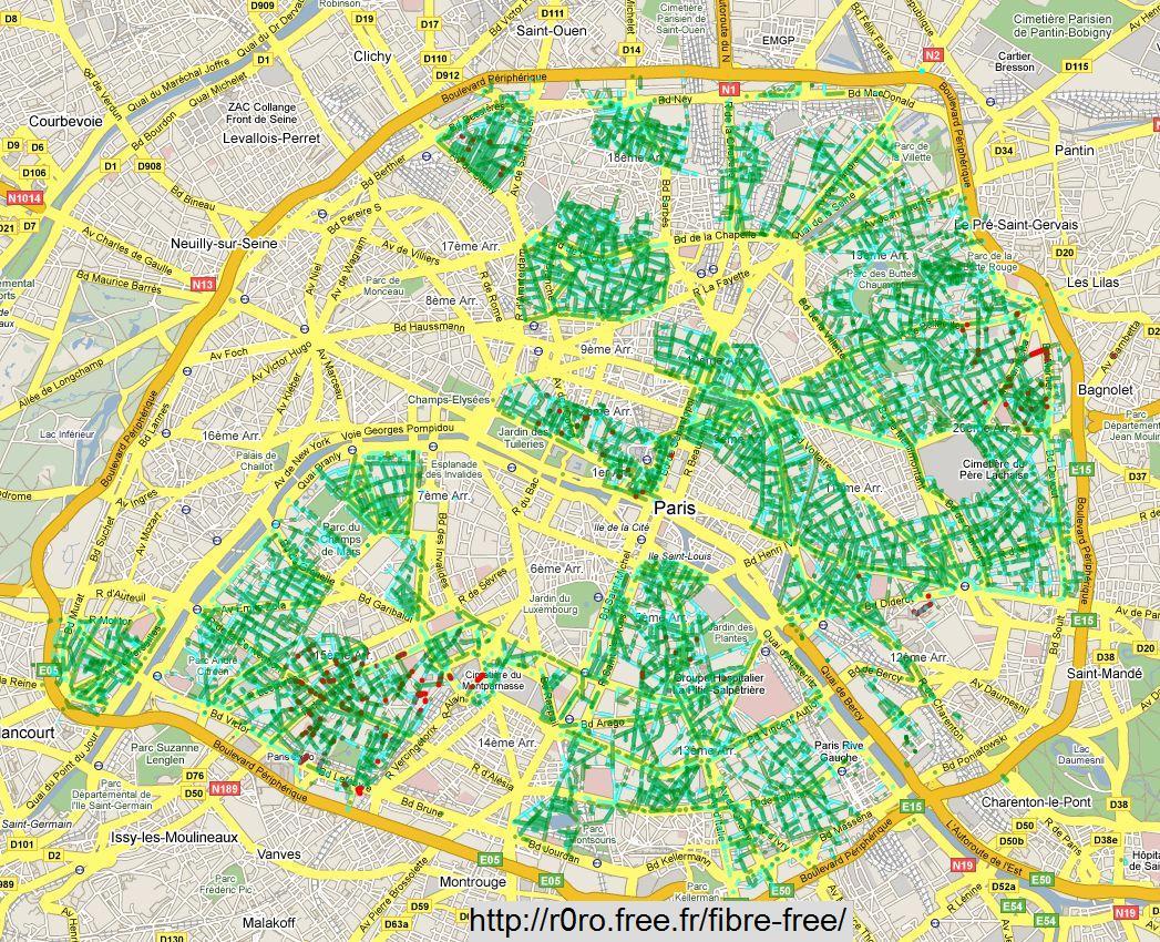Une nouvelle carte de la fibre optique - Carte fibre optique france ...