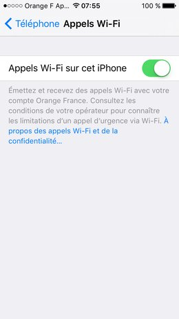 Les Appels Sur Wifi Orange Lance L Option Sur Iphone Bouygues Et