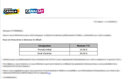 Canal Canalsat Attention A La Facturation Des Frais D Acces De 50