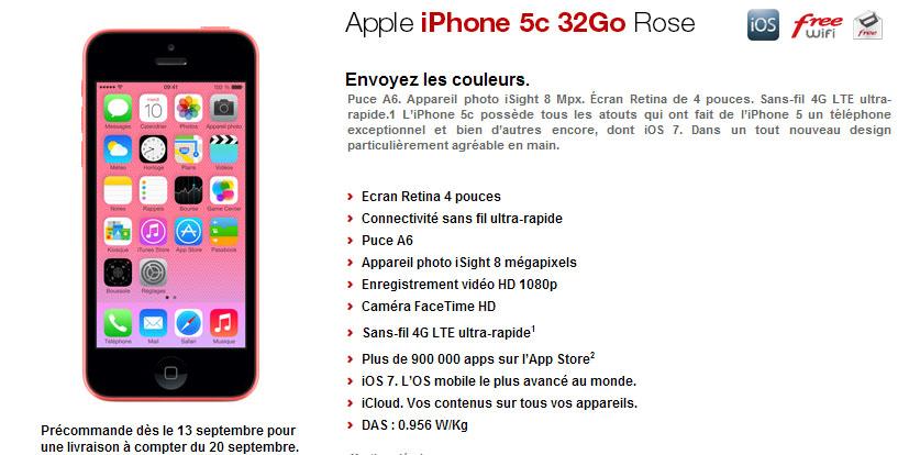 article  Free Mobile lance l iPhone C en precommande decouvrez les tarifs