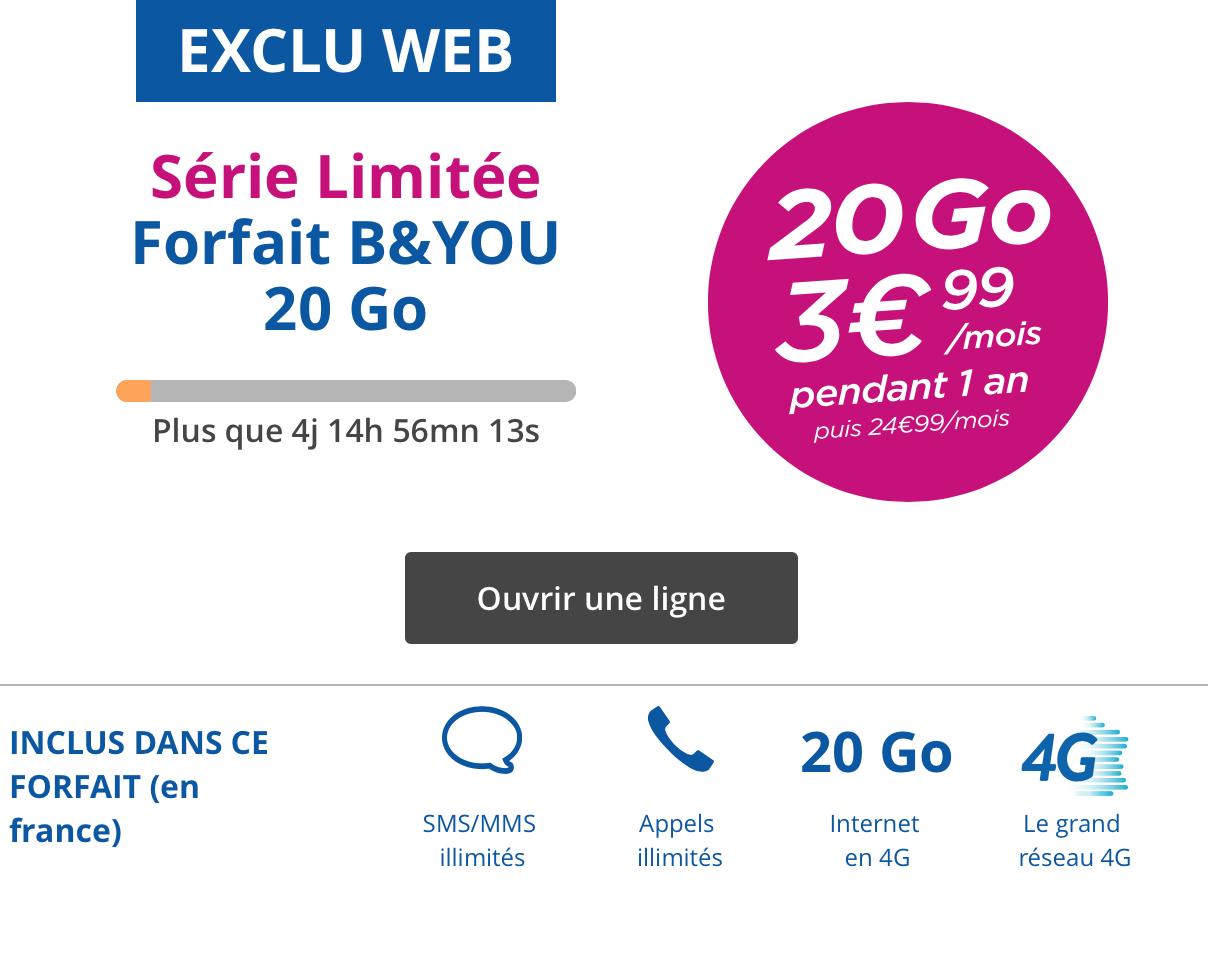 bouygues t l com r plique la vente priv e de free mobile avec une offre 3 99