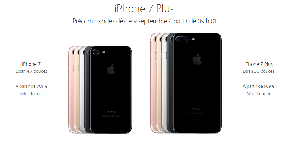 comparaison des prix pour l iphone 7 et 7 plus chez orange sfr free et bouygues t l com. Black Bedroom Furniture Sets. Home Design Ideas