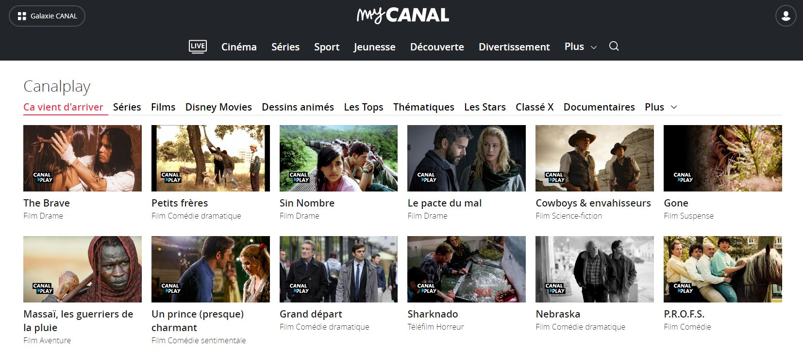 canalplay sur tablette