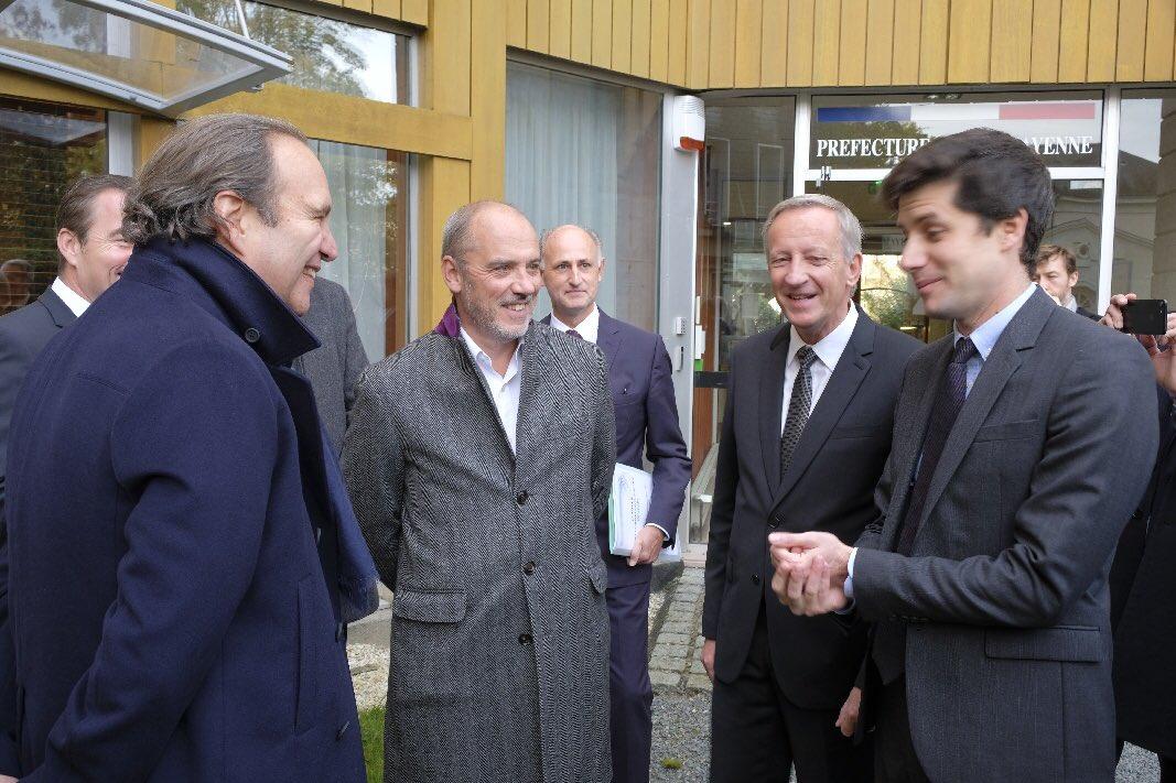 Stéphane Richard et Xavier Niel en visite à Laval