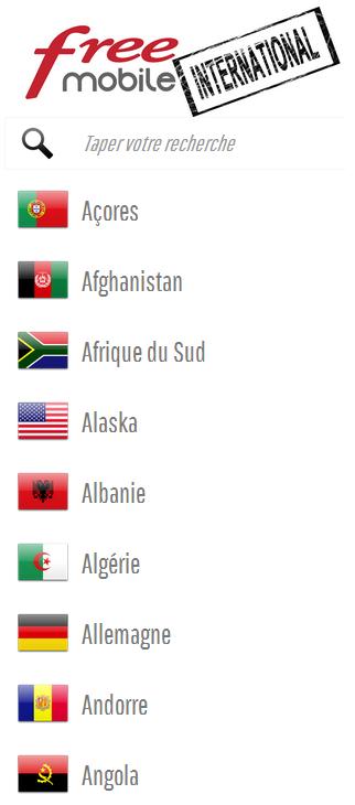 Free Mobile International: un site pour mieux informer les Freenautes sur les tarifs