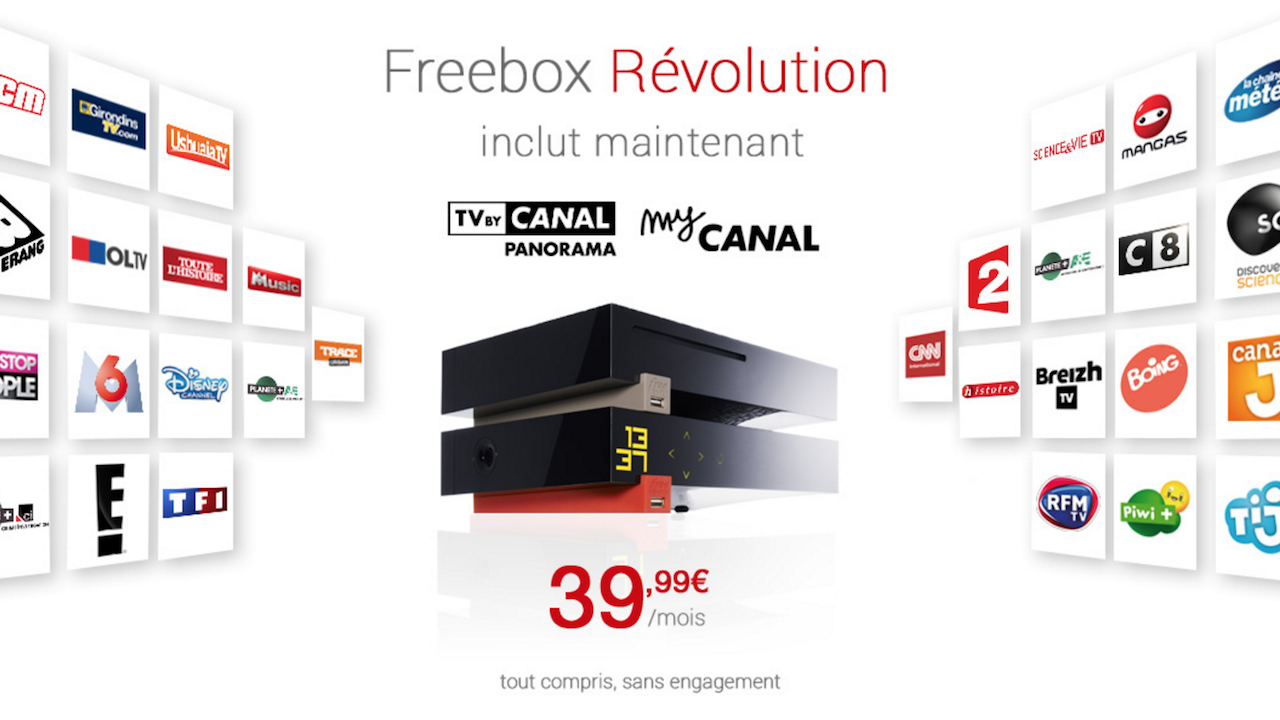 quelles sont les raisons de la nouvelle offre low cost de canal plus sur la freebox r volution. Black Bedroom Furniture Sets. Home Design Ideas