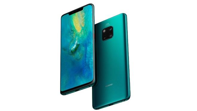 Des bordures vertes sur l'écran du Huawei Mate 20 Pro