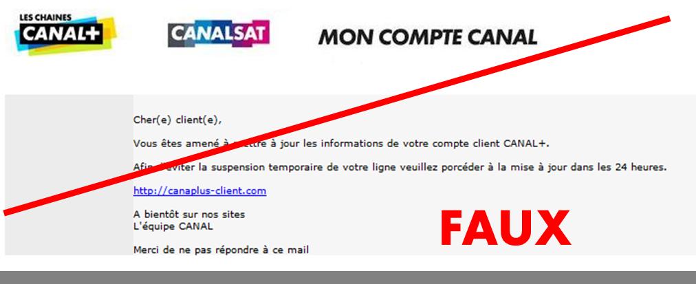 Phishing En Cours Visant Les Abonnes Canalsat
