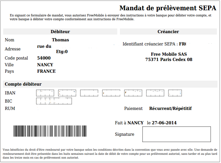 free mobile sas 75371 paris cedex 08