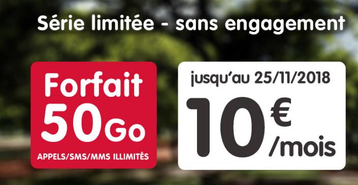 50Go à 10€ à vie chez NRJ Mobile — Forfait pas cher