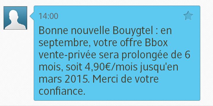 Bouygues t l com a peur de la vente priv e de free - Vente privee retour article ...