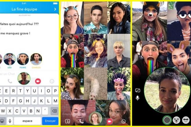 Snapchat lance enfin les appels vidéo de groupe
