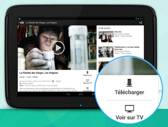 film mycanal sur tablette samsung