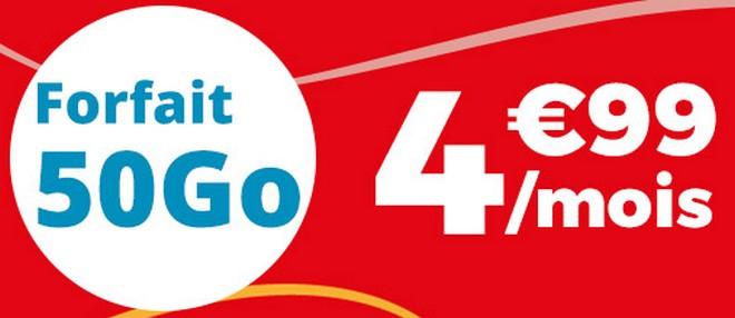 Carte Sim Auchan Telecom.Auchan Telecom Relance Sa Serie Limitee 50 Go A 4 99 Euros