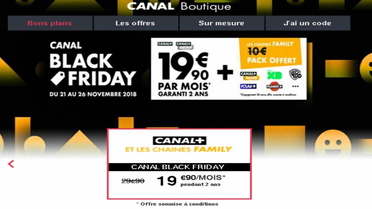 Canal Fait Son Black Friday Sur La Freebox Avec Plusieurs Offres