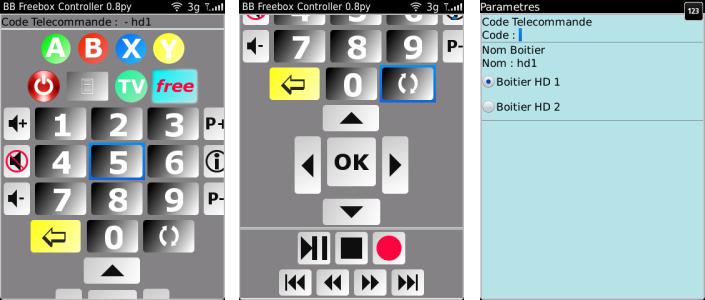 freebox controller une t l commande freebox pour votre blackberry. Black Bedroom Furniture Sets. Home Design Ideas