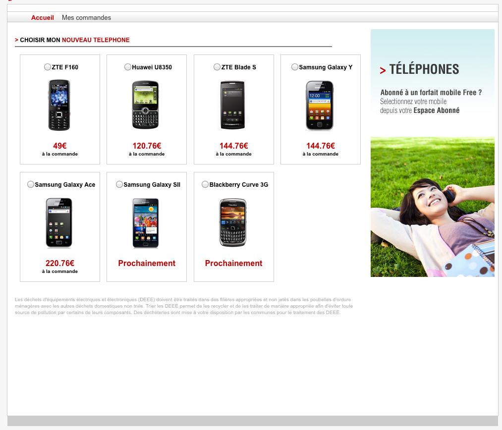 free mobile les t l phones portables sont en vente. Black Bedroom Furniture Sets. Home Design Ideas