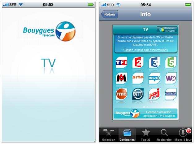 tv bouygues telecom sur iphone. Black Bedroom Furniture Sets. Home Design Ideas