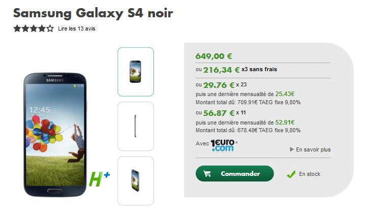 Samsung galaxy s4 quel est l op rateur le moins cher - Achat telephone en plusieurs fois ...