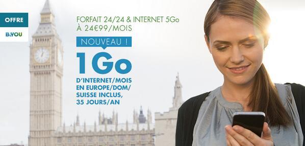 b you 1go depuis l europe les dom et la suisse inclus dans le forfait 24 24 internet 5go. Black Bedroom Furniture Sets. Home Design Ideas