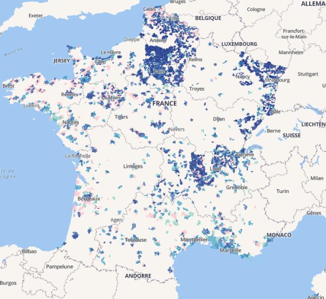 Carte Fibre Bordeaux.Deploiement De La Fibre L Arcep Met A Jour Sa Carte