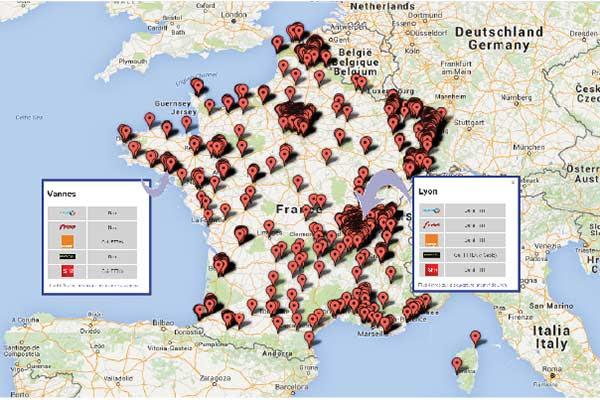 Carte Fibre Orange Bretagne.Quels Operateurs Proposent La Fibre Dans Votre Ville