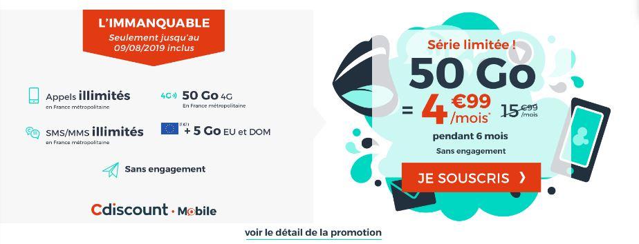 Carte Cdiscount Mobile.Cdiscount Mobile Revoit Son Forfait Serie Limitee A 4 99eur