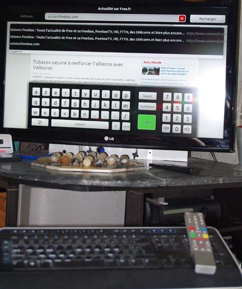 freebox r volution test du navigateur web avec un clavier sans fil. Black Bedroom Furniture Sets. Home Design Ideas