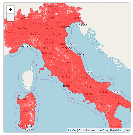 Iliad publie sa carte de couverture en Italie, et il fait beaucoup plus fort qu'en France sur la 4G