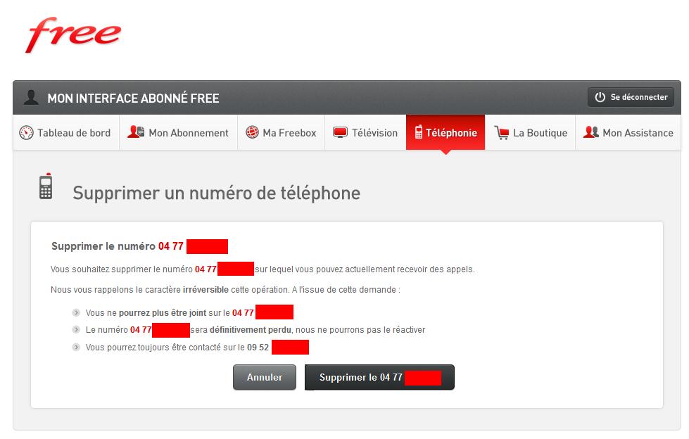 article  Nouveaute Freebox il est maintenant possible de supprimer le numero porte
