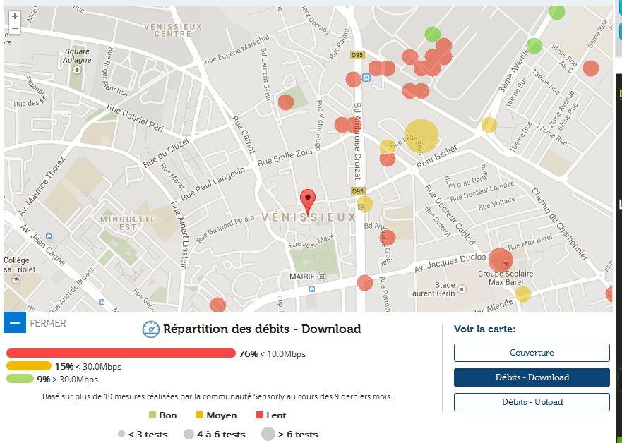 Couverture et d bit 4g free mobile focus sur v nissieux for 4g haute savoie