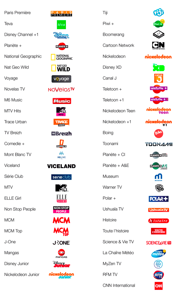 Découvrez les 51 chaînes du nouveau bouquet TV lancé par
