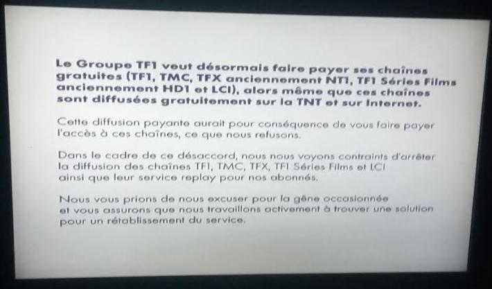 canal annonce l arr t de la diffusion des cha nes gratuites du groupe tf1 et de leurs replay. Black Bedroom Furniture Sets. Home Design Ideas
