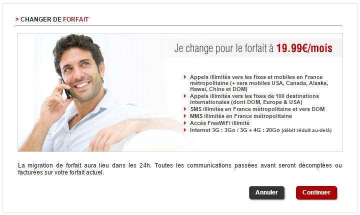 free passer du forfait 19.99 ? 2