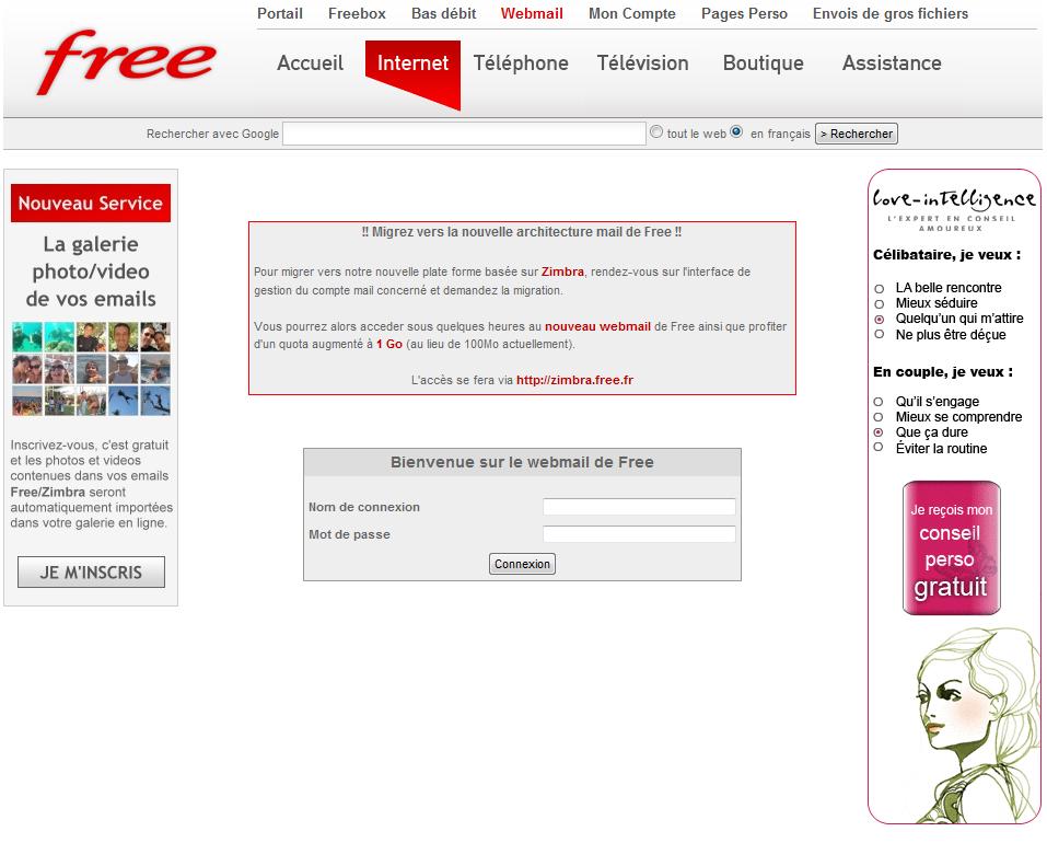 1email Fred Contact Usco Ltd Mail: Webmail Free : Une Pub Se Présente Comme Un Nouveau Service