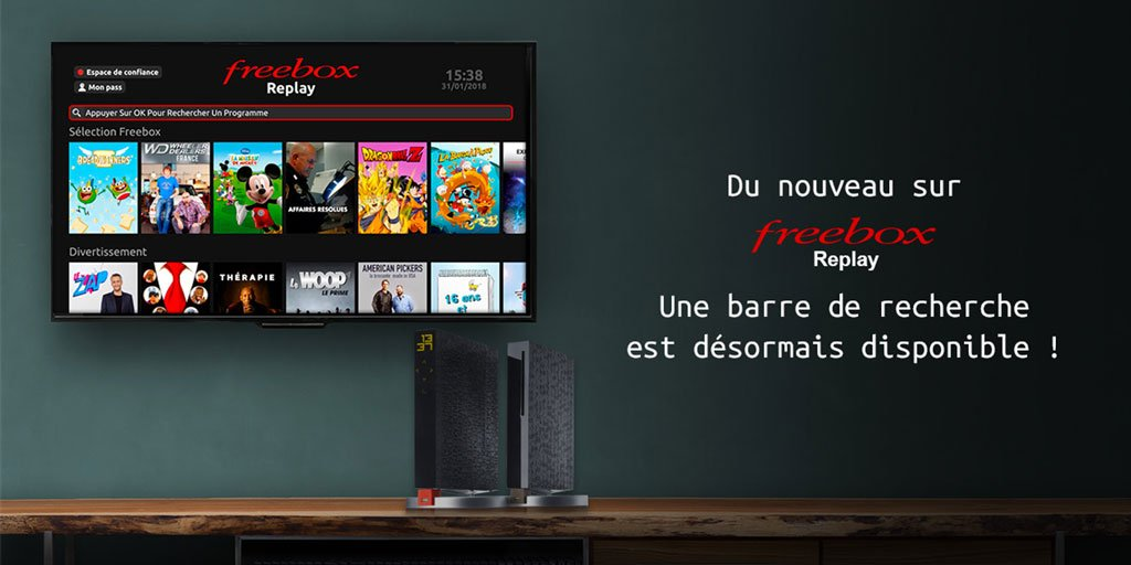 free communique officiellement sur la nouvelle fonction de recherche de freebox replay. Black Bedroom Furniture Sets. Home Design Ideas
