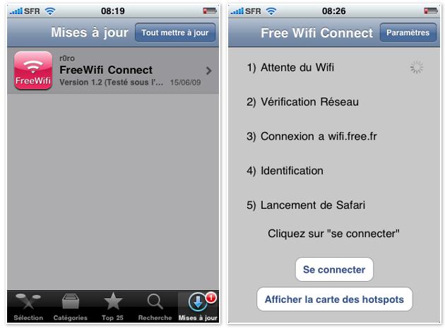 iphone ipod mise jour pour freewifi connect. Black Bedroom Furniture Sets. Home Design Ideas