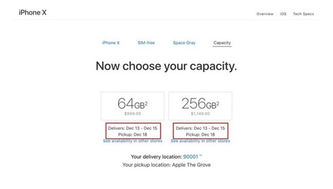 1 à 3 jours d'attente dans l'Apple Store — IPhone X