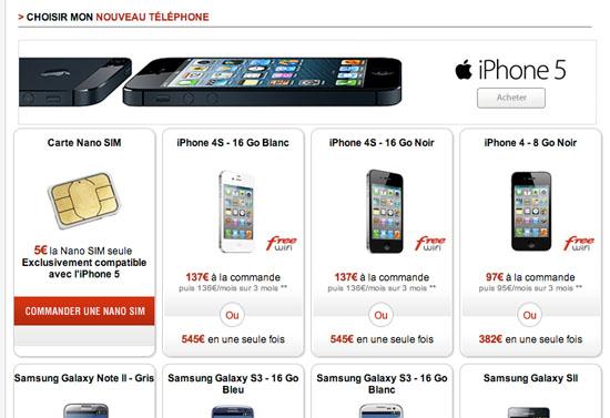 l iphone 4 fait un retour surprise dans la boutique en ligne free mobile. Black Bedroom Furniture Sets. Home Design Ideas