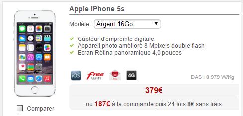 free baisse sur le tarif de l 39 iphone 5s france forum. Black Bedroom Furniture Sets. Home Design Ideas