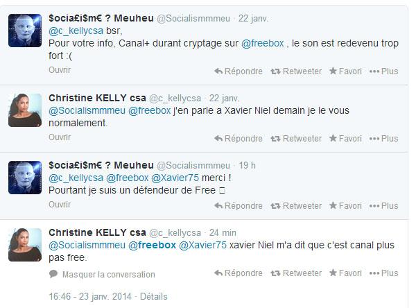 Freebox Canal Hausse Le Son Christine Kelly Csa Et Xavier Niel