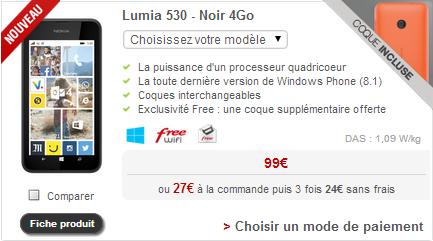 boutique free mobile un nouveau nokia lumia propos la vente. Black Bedroom Furniture Sets. Home Design Ideas