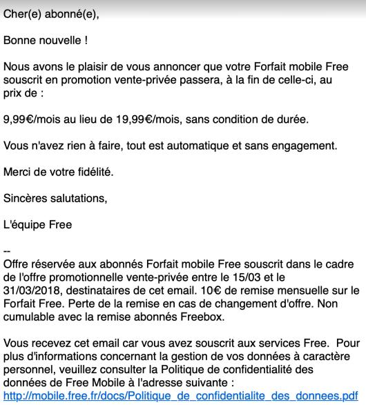 Free Mobile Propose Une Promotion à Vie Pour Les Abonnés