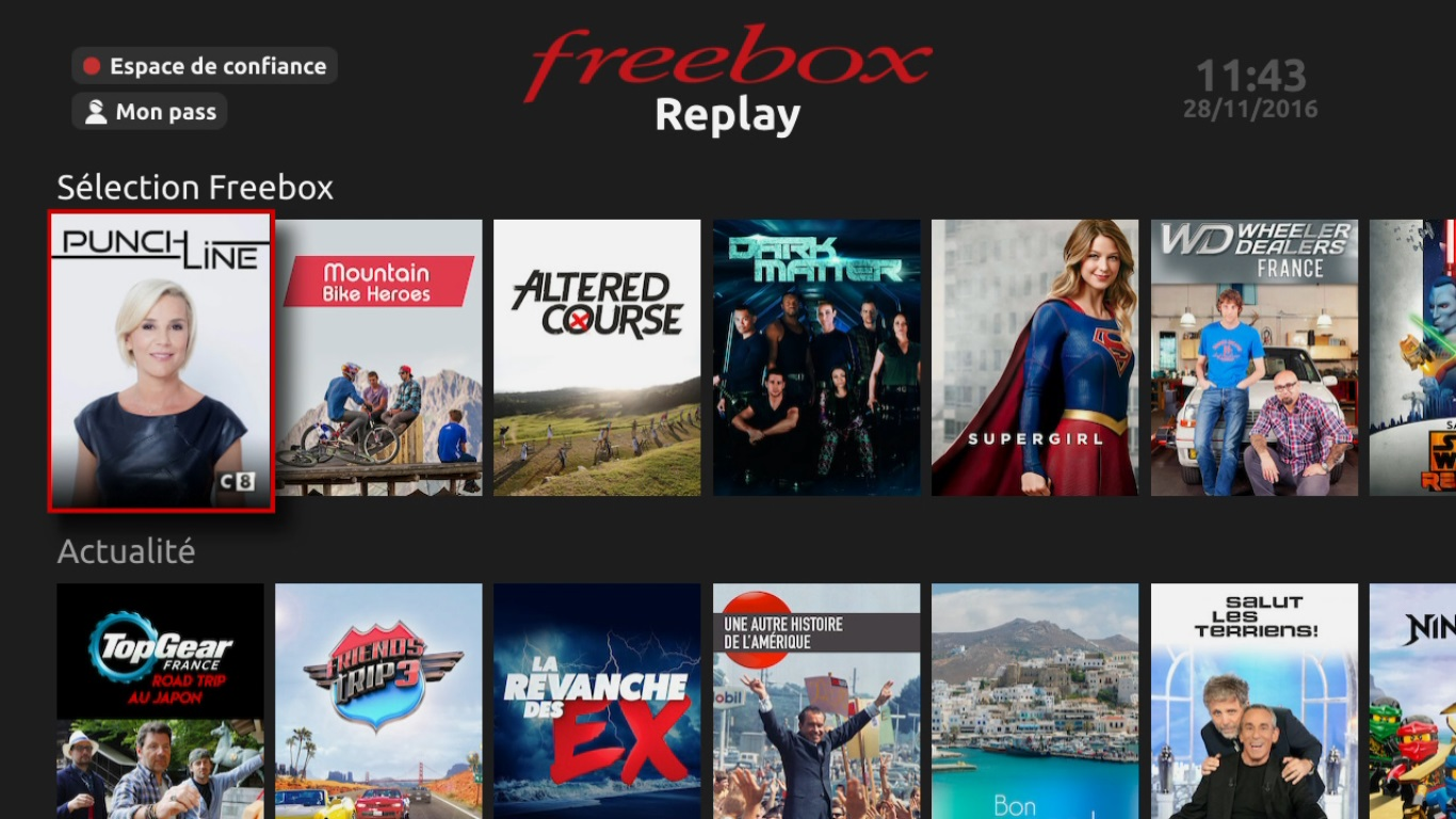 freebox r volution free fait d j voluer la nouvelle interface de freebox replay. Black Bedroom Furniture Sets. Home Design Ideas