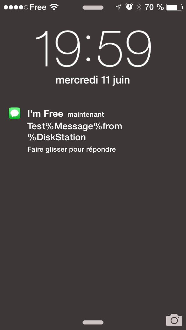 Souvent Tutoriel : Utiliser la notification SMS Free Mobile avec un NAS  MZ51